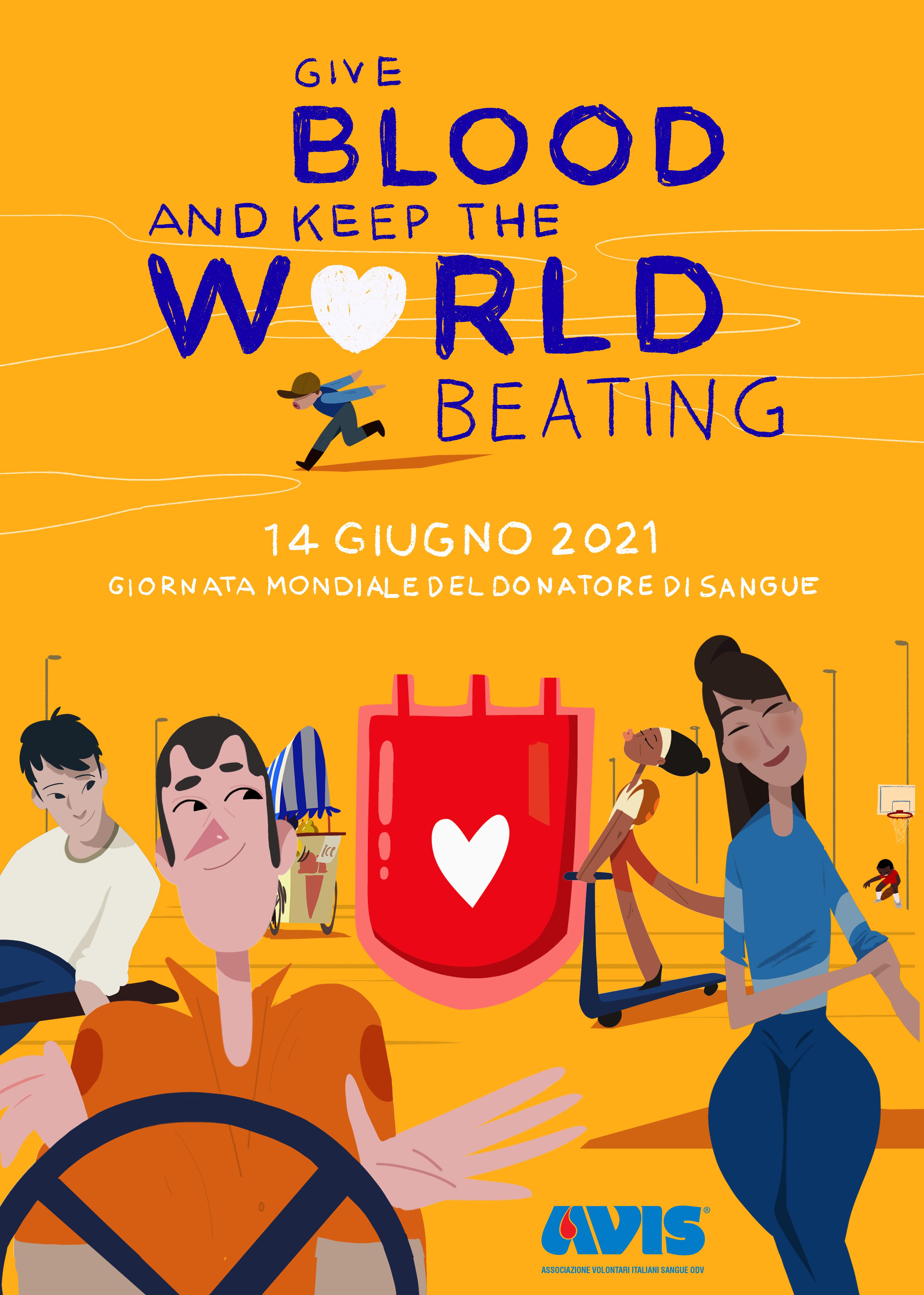 """""""Give Blood and Keep the World Beating"""" è il titolo della campagna promossa dall'Oms per celebrare la Giornata Mondiale del donatore."""